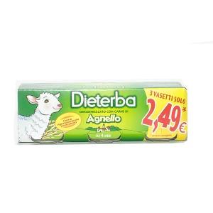 DIETERBA OMOGENEIZZATO AGNELLO 3 PEZZI 80 G - farmaciadeglispeziali.it