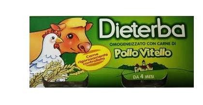 DIETERBA OMOGENEIZZATO VITELLO POLLO 3 PEZZI 80 G - Farmastop