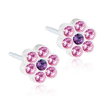 Image of BLOMDAHL GIOIELLO MP DAISY 5MM LIGHT ROSE/AMETHYST
