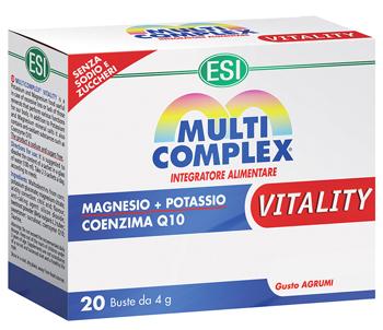 Esi Multicomplex Vitality Integratore Magnesio e Potassio 20 Bustine