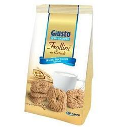 GIUSTO SENZA ZUCCHERO FROLLINI CEREALI 350 G - Farmafamily.it