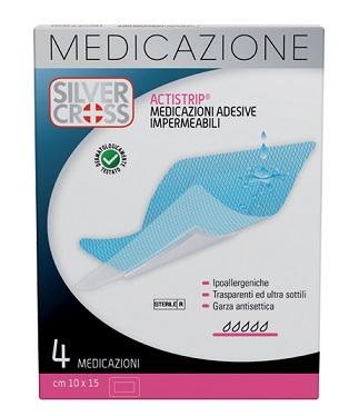 SILVERCROSS ACTISTRIP MEDICAZIONE ADESIVA 10X15CM 4 PEZZI - FARMAEMPORIO
