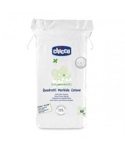 CHICCO BABY MOMENTS QUADROTTI MORBIDO COTONE 60 PEZZI - Farmia.it