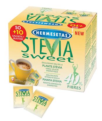 HERMESETAS STEVIA 50+10 BUSTINE - Farmawing