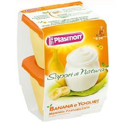 Plasmon Merende Di Frutta Sapori Di Natura Banana Yogurt 2x120g - Farmajoy