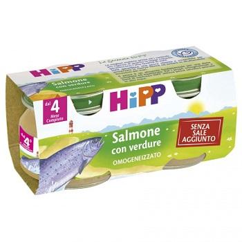 HIPP OMOGENEIZZATO SALMONE CON VERDURE 2X80 G - Farmapass
