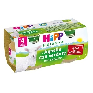HIPP BIOLOGICO OMOGENEIZZATO AGNELLO 80 G 2 PEZZI - Farmacianuova.eu