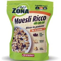 ENERZONA MUESLI RICCO 40-30-30 230 GRAMMI - Farmafamily.it