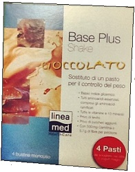 BASE PLUS SHAKE CIOCCOLATO 22 G 4 PEZZI - farmasorriso.com