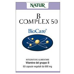 B COMPLEX 50 60 CAPSULE BIOCARE - Farmabellezza.it