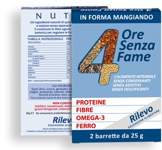 RILEVO 4 ORE SENZA FAME 2 BARRETTE 25 G - Farmafamily.it