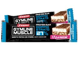 Enervit Gymline Muscle Protein Bar 27% gusto Cocco-Ciok doppio strato 45g - latuafarmaciaonline.it