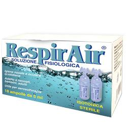 RESPIRAIR SOLUZIONE FISIOLOGICA PER FUMIGAZIONI/AEROSOL 18 AMPOLLE - La tua farmacia online