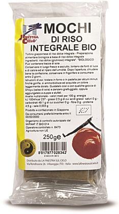 MOCHI DI RISO INTEGRALE BIO 250 G - Farmaseller