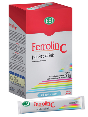 ESI FERROLIN C POCKET DRINK 24 BUSTINE - Farmafamily.it