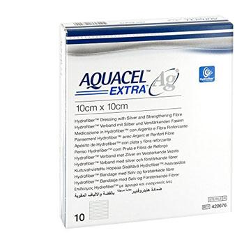 AQUACEL AG EXTRA MEDICAZIONE CON IONI ARGENTO 10X10 CM 10 PEZZI - Farmacia Giotti