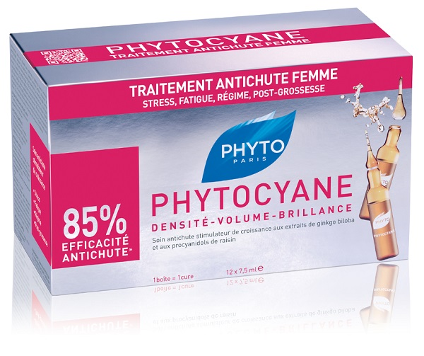 PHYTO PHYTOCYANE TRATTAMENTO ANTICADUTA CAPELLI DONNA 12 FIALE 7,5 ML - Farmawing