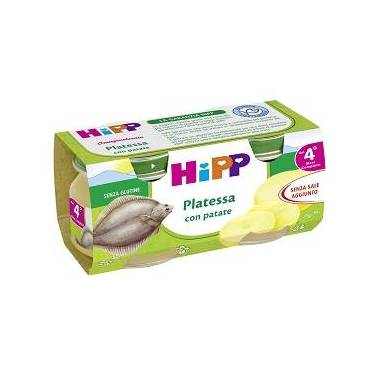 HIPP OMOGENEIZZATO PLATESSA CON PATATE 2X80 G - Farmafamily.it
