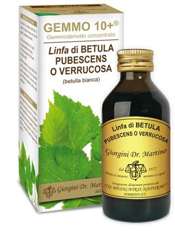 GEMMO 10+ BETULLA B LINFA 100 ML LIQUIDO ANALCOLICO - Farmacielo