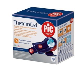 THERMOGEL CUSCINO TERAPIA CALDO FREDDO 10X26 CM CON FASCIA ELASTICA - Farmia.it