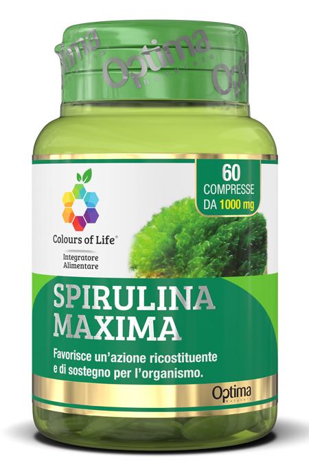COLOURS OF LIFE SPIRULINA MAXIMA 60 COMPRESSE 1000 MG - Zfarmacia