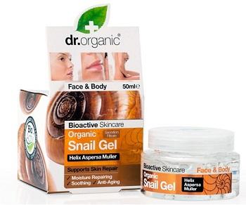 Dr. Organic Snail Gel Alla Bava di Lumaca Filtrata Viso&Corpo 50 ml