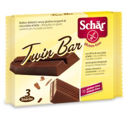 SCHAR TWIN WAFER CIOCCOLATO AL LATTE 3 BARRETTE X 21,5 G - Farmafirst.it