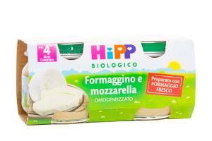 HIPP BIO OMOGENEIZZATO FORMAGGINO MOZZARELLA 2X80 G - Farmafamily.it