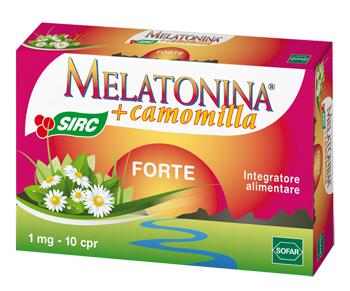 Melatonina Forte + Camomilla Integratore Sonno 10 Compresse
