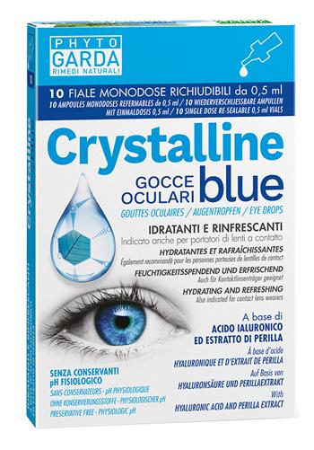 CRYSTALLINE BLUE GOCCE OCULARI MONODOSE 10 FIALE 0,5 ML - Spacefarma.it