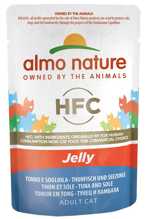 ALMO NATURE CLASSIC JELLY TONNO/SOGLIOLA 55G - Farmawing