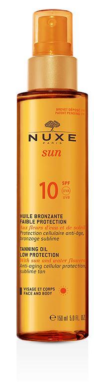 NUXE SUN HUILE BRONZANTE SPF10* - Farmabellezza.it