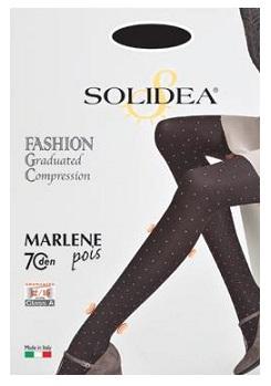 Solidea Marlene Opaque Pois 70 DEN Collant Compressivo Riposante Colore Forest Taglia 4 L