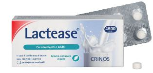LACTEASE 4500 FCC AROMA MENTA 30 COMPRESSE MASTICABILI - Farmastar.it