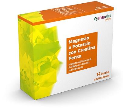 MAGNESIO E POTASSIO CON CREATINA ARANCIA PENSA 14 BUSTINE - Carafarmacia.it