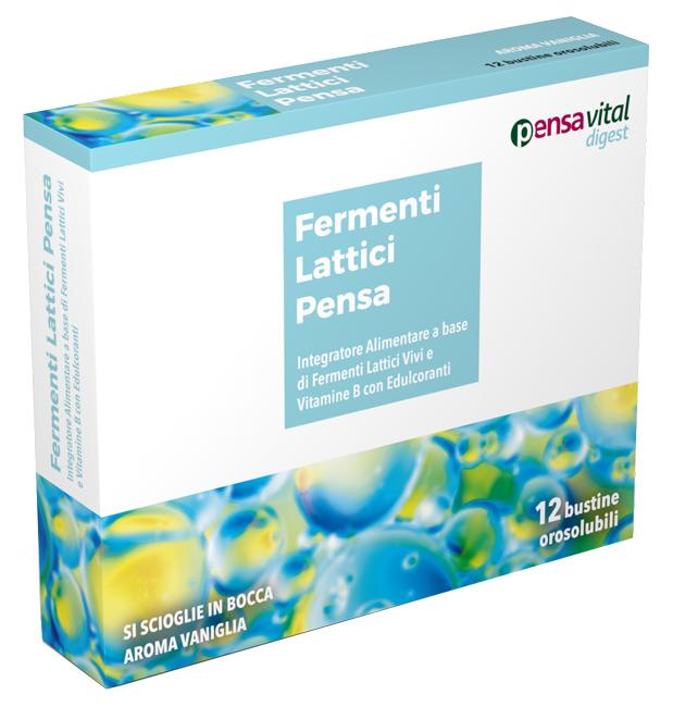 FERMENTI LATTICI VIVI E VITAMINE B 12 VANIGLIA BUSTINE OROSOLUBILI - Carafarmacia.it