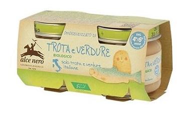 OMOGENEIZZATO TROTA E VERDURE BABY FOOD BIO 2 X 80 G - Farmastar.it