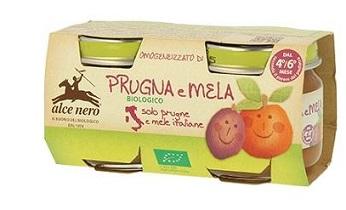 OMOGENEIZZATO PRUGNA E MELA BABY FOOD BIO 2 X 80 G - Farmacia Castel del Monte