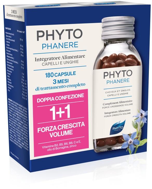 PHYTO PHYTOPHANERE INTEGRATORE ALIMENTARE CAPELLI/UNGHIE 90+90 CAPSULE -  Farmacia Santa Chiara