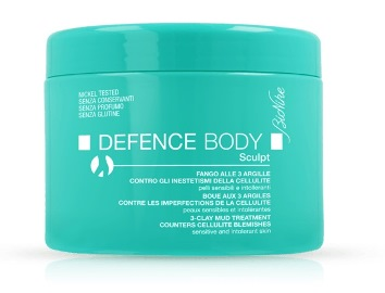DEFENCE BODY ANTICELLULITE FANGO ALLE 3 ARGILLE VASO 500 G - Farmabenni.it