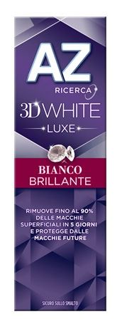 DENTIFRICIO AZ 3D WHITE LUXE BIANCO BRILLANTE 75 ML - Nowfarma.it