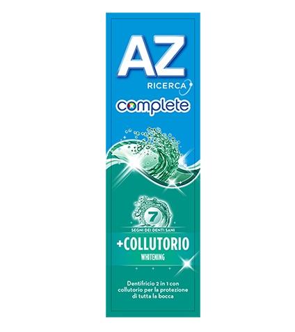 DENTIFRICIO AZ COMPLETE WHITENING + COLLUTORIO 75 ML - Farmacia Massaro