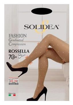 Solidea Rossella Sheer 70 DEN Collant Compressivo Colore Nero Taglia 2 M