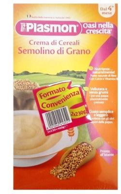 PLASMON CEREALI SEMOLINO DI GRANO 2 X 230 G - FARMAEMPORIO