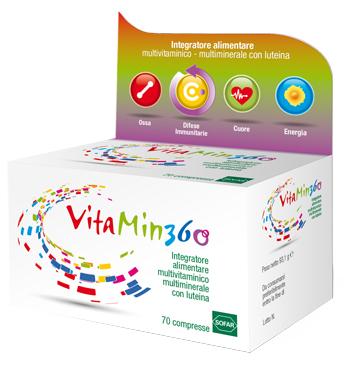 VITAMIN 360 MULTIVITAMINICO MULTIMINERALE 70 COMPRESSE ASTUCCIO 93,10 G - Farmajoy