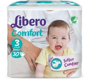 LIBERO COMFORT 3 PANNOLINO PER BAMBINO 5-9 KG 30 PEZZI - Farmacia Puddu Baire S.r.l.