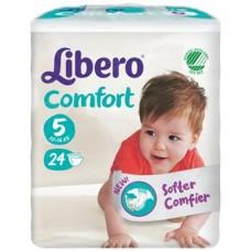 LIBERO COMFORT 5 PANNOLINO PER BAMBINO TAGLIA 10-16KG 24 PEZZI - Farmacistaclick