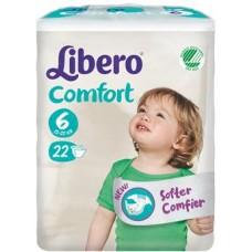 LIBERO COMFORT 6 PANNOLINO PER BAMBINO TAGLIA 12-22 KG 22 PEZZI - Farmacistaclick