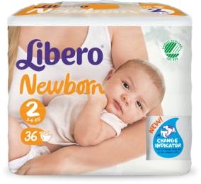 LIBERO NEWBORN PANNOLINO PER BAMBINO TAGLIA 2 6X36 PEZZI - La farmacia digitale