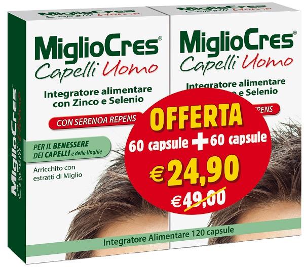 MIGLIOCRES UOMO 60+60 CAPSULE PROMO - farmasorriso.com